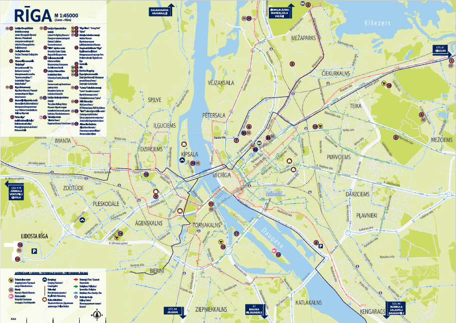 Riga_Tourism_information_city_map